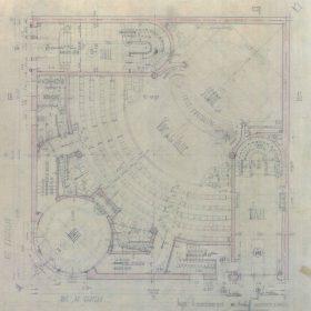 Plan du theatre onde 1948 espace galerie art le comoedia patrimoine historique brest finistere