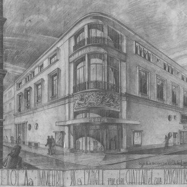 Michel Ouchacoff 1948 architecture theatre facade espace galerie art le comoedia patrimoine historique brest finistere