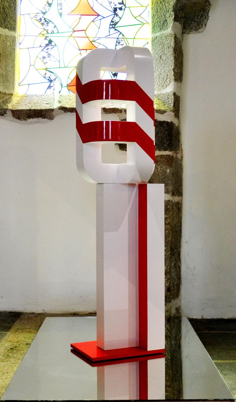 Vincent de Monpezat Le signal sculpture art contemporain galerie espace art le comoedia brest finistère tourisme culture
