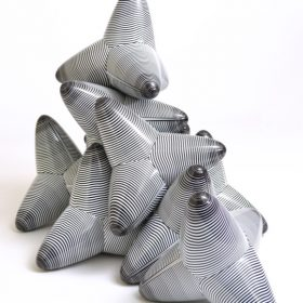 Vincent de monpezat tetrapodes cynethiques sculpture galerie espace art le comoedia brest exposition contemportain art