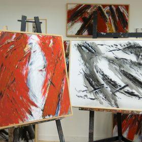 Yvon daniel atelier exposition contemporaine galerie espace art le comoedia brest