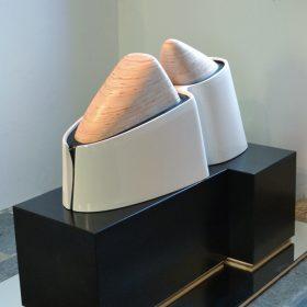 deux domes photo vincent de monpezat sculpture sculpteur exposition art comoedia brest finistere bretagne