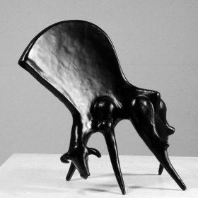 taureau noir sculpture exposition noir est une couleur couleurs sculptées galerie espace art le comoedia finistere brest culture tourisme