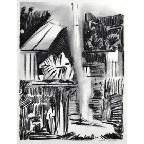 Loïc MADEC Fusain Opera 1 peinture peintre exposition temporaire sculpture le comoedia espace art brest finistere bretagne france culture tourisme