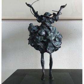 Petit bonheur martine kerbaol sculpture sculptrice exposition temporaire espace art le comoedia brest finistere bretagne culture tourisme