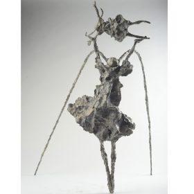 Tete dans les nuages martine kerbaol sculpture sculptrice exposition temporaire espace art le comoedia brest finistere bretagne culture tourisme