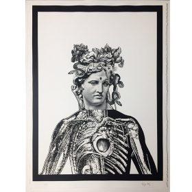 Iris de 13Bis lithographie digitale sur papier exposition art urbain galerie espace art le Comoedia