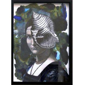 Palette N4 de 13Bis Collage et peinture exposition art urbain galerie espace art le Comoedia