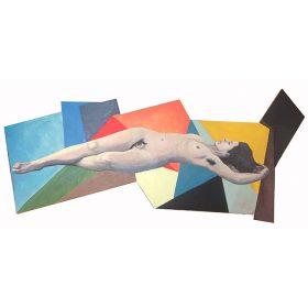 La source de 13Bis peinture sur papier sur bois exposition art urbain galerie espace art le Comoedia Femme oeil couleurs