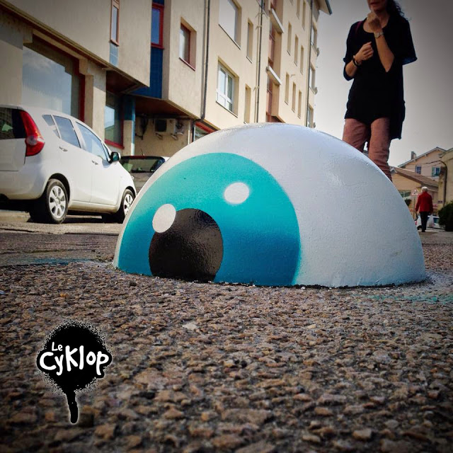 Metamorphose le Cyklop artiste de la galerie espace art le Comoedia Brest exposition art urbain street art