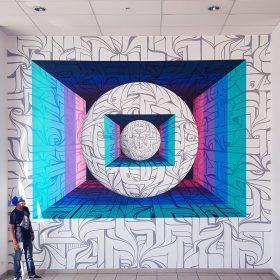 Astro artiste de la galerie espace art le Comoedia Brest exposition art urbain street art graff