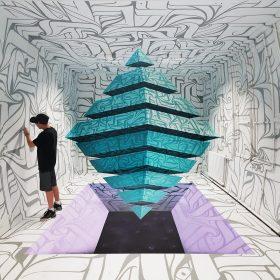 Astro dedale espace artiste de la galerie espace art le Comoedia Brest exposition art urbain street art graff