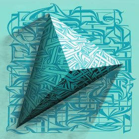 Pyramidal de astro impression lentille retro eclairage exposition art urbain galerie espace art le Comoedia street art