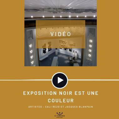Vidéo : les artistes Cali Rezo et Jacques Blanpain au Comoedia Espace d'Art