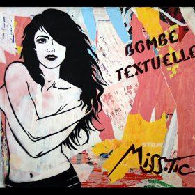 Bombe textuelle estampe numerique de Miss Tic artiste de la galerie espace art le Comoedia Brest exposition art urbain street art