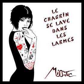 Le Chagrin se lave dans les larmes de Miss Tic Graffiti et pochoir artiste de la galerie espace art le Comoedia Brest exposition art urbain street art