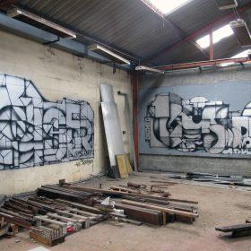 Outsider Silver Writing artiste de la galerie espace art le Comoedia Brest exposition art urbain street art graff