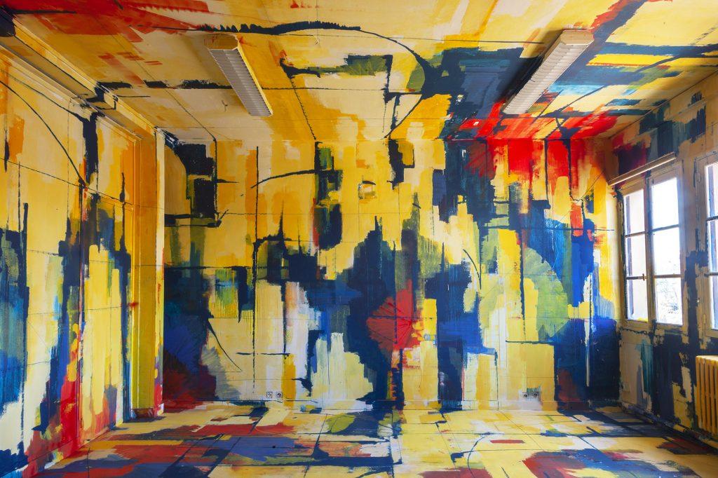 Soemone espace couleurs artiste de la galerie espace art le Comoedia Brest exposition art urbain street art