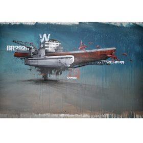 Floating Boat de Wen2 exposition art urbain galerie espace art le Comoedia Brest