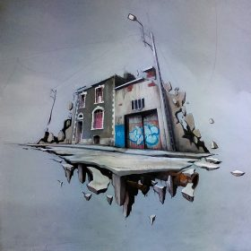 Le Guen de Wen2 toile exposition art urbain galerie espace art le Comoedia street art
