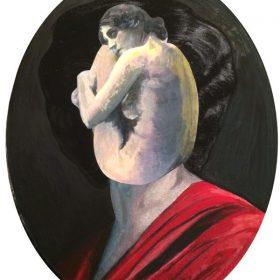 Madame Magritte de 13Bis Collage peinture toile exposition art urbain galerie espace art le Comoedia