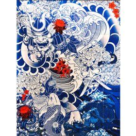 Blue Yacuza de Julien Soone ceramique emaillee exposition art urbain galerie espace art le Comoedia