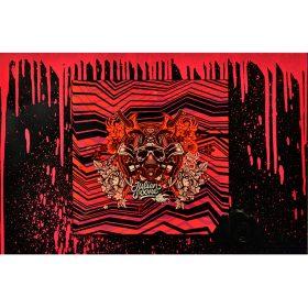 Pink Drips de Julien Soone Ceramique et metal exposition art urbain galerie espace art le Comoedia