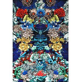 Samourai Tiger de Julien Soone ceramiques emaillees exposition art urbain galerie espace art le Comoedia