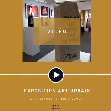 Vidéo : les artistes Miss Tic, 13Bis et Levalet au Comoedia Espace d'Art