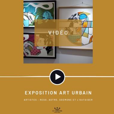 Vidéo : les artistes Reso, Astro, Soemone et L'Outsider au Comoedia Espace d'Art