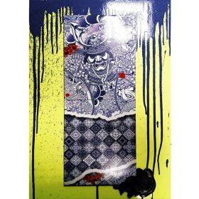 Cobalte Drips de Julien Soone exposition art urbain Galerie art le Comoedia