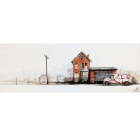 Detroit de Wen2 sur toile exposition art ubrain galerie art le Comoedia