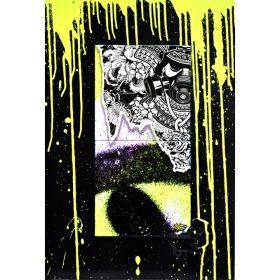 Neon Drips de Julien Soone ceramique et plaque de métal exposition art urbain galerie art le Comoedia