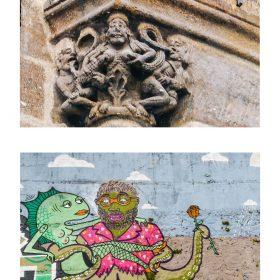Photographie pieuvre et poisson de JPH sculpture et graffiti exposition art urbain galerie art le Comoedia