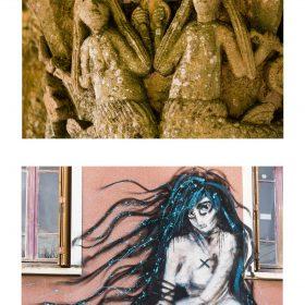 Photographie de JPH galerie art le Comoedia exposition art urbain sirene sclupture et graffiti
