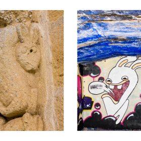 Photographie lapins de JPH exposition art urbain galerie art le Comoedia sculpture et graffiti