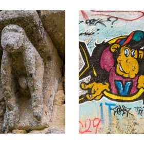 Photographie singes de JPH exposition art urbain galerie art le Comoedia sculpture et graffiti
