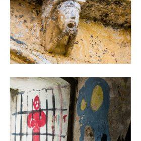 Photographie de JPH Prisonniers graffitis et sculpture exposition art urbain galerie art le Comoedia