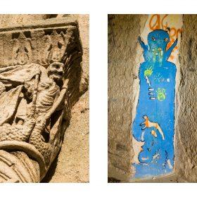 Photographie de JPH exposition art urbain galerie art le Comoedia sculpture et graffiti