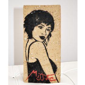 Tuer le temps il se venge recto de Miss Tic aerosol sur birque exposition art urbain galerie art le Comeodia