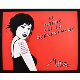 Le monde est en dérangement de Miss Tic exposition art urbain galerie art le Comoedia