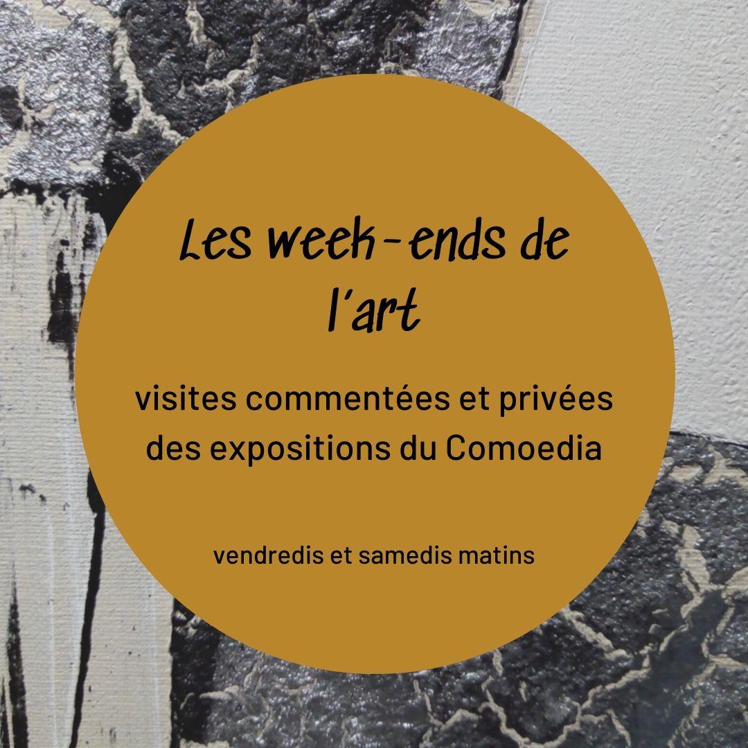 visuel generique weekends de lart espace art comoedia brest finistere bretagne galerie gallery exposition vente exhibition visites visits