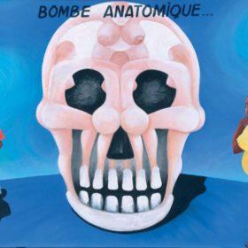 Peinture - Chéri Chérin - Femmes formant une tête de mort, hommes - fond bleu