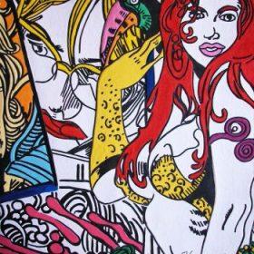 Aquagravure Erro Femmes colorées