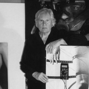 Photo portrait noir et blanc Peter Klasen