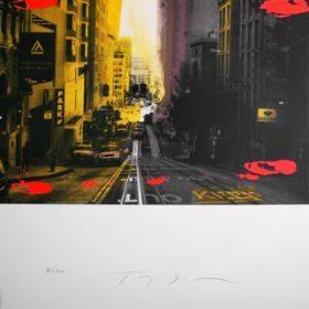 Lithographie Tony Soulié Photo San Fransisco taches rouges