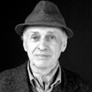Photo portrait noir et blanc Jacques Villeglé