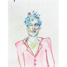 Peinture Neila Serrano Homme de face