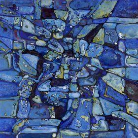 Peinture Nansky l'aquarium expostion feminae au Comoedia Brest