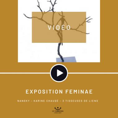 Vidéo : les artistes Nansky, Karine Chaudé et 3 tisseuses de liens au Comœdia espace d'art